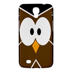 Brown Simple Owl Samsung Galaxy Mega 6 3  I9200 Hardshell Case by Valentinaart