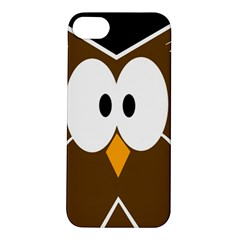 Brown Simple Owl Apple Iphone 5s/ Se Hardshell Case by Valentinaart