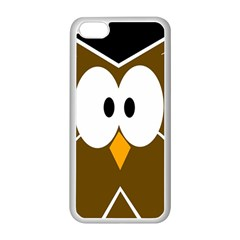 Brown Simple Owl Apple Iphone 5c Seamless Case (white) by Valentinaart