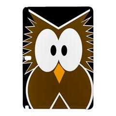 Brown Simple Owl Samsung Galaxy Tab Pro 10 1 Hardshell Case by Valentinaart