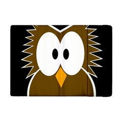Brown Simple Owl Ipad Mini 2 Flip Cases by Valentinaart