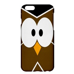 Brown Simple Owl Apple Iphone 6 Plus/6s Plus Hardshell Case by Valentinaart