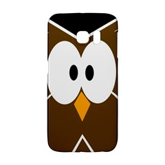 Brown Simple Owl Galaxy S6 Edge by Valentinaart