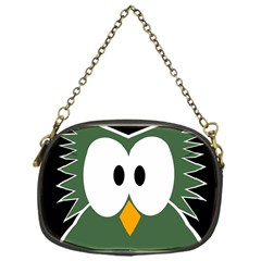Green Owl Chain Purses (one Side)  by Valentinaart