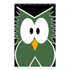 Green Owl Shower Curtain 48  X 72  (small)  by Valentinaart