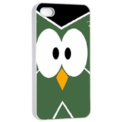 Green Owl Apple Iphone 4/4s Seamless Case (white) by Valentinaart