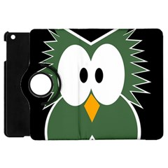 Green Owl Apple Ipad Mini Flip 360 Case by Valentinaart