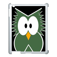 Green Owl Apple Ipad 3/4 Case (white) by Valentinaart