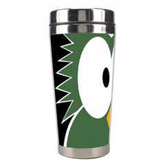 Green Owl Stainless Steel Travel Tumblers by Valentinaart