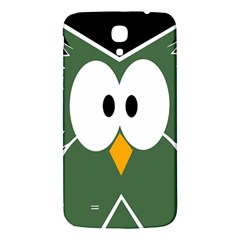 Green Owl Samsung Galaxy Mega I9200 Hardshell Back Case by Valentinaart