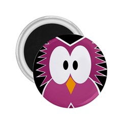 Pink Owl 2 25  Magnets by Valentinaart