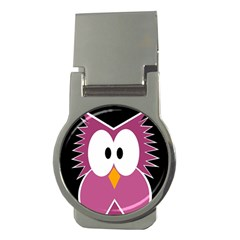 Pink Owl Money Clips (round)  by Valentinaart