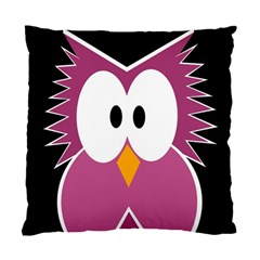 Pink Owl Standard Cushion Case (one Side) by Valentinaart