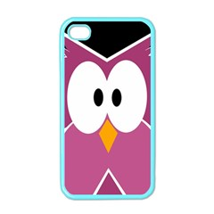 Pink Owl Apple Iphone 4 Case (color) by Valentinaart