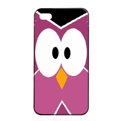 Pink Owl Apple Iphone 4/4s Seamless Case (black) by Valentinaart