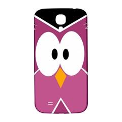 Pink Owl Samsung Galaxy S4 I9500/i9505  Hardshell Back Case by Valentinaart