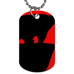 Bear Dog Tag (two Sides) by Valentinaart