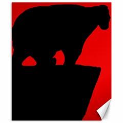 Bear Canvas 8  X 10  by Valentinaart
