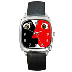 Kiss Square Metal Watch by Valentinaart