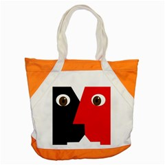 Kiss Accent Tote Bag by Valentinaart
