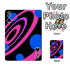 Pink And Blue Twist Playing Cards 54 Designs  by Valentinaart
