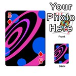 Pink and blue twist Playing Cards 54 Designs  Front - Diamond5