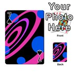 Pink and blue twist Playing Cards 54 Designs  Front - Spade7