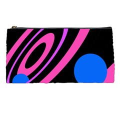 Pink And Blue Twist Pencil Cases by Valentinaart