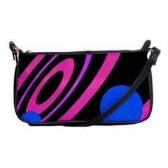 Pink And Blue Twist Shoulder Clutch Bags