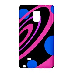 Pink and blue twist Galaxy Note Edge by Valentinaart