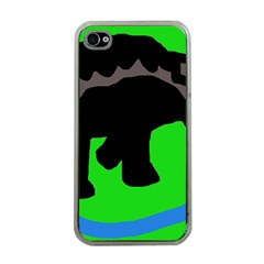 Elephand Apple Iphone 4 Case (clear) by Valentinaart