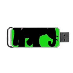 Elephand Portable Usb Flash (two Sides) by Valentinaart