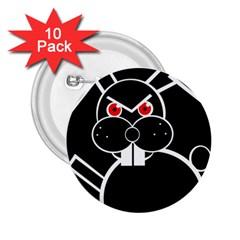 Evil Rabbit 2 25  Buttons (10 Pack)  by Valentinaart