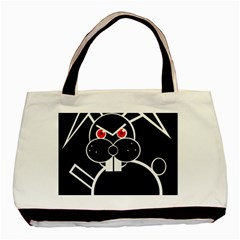 Evil Rabbit Basic Tote Bag by Valentinaart