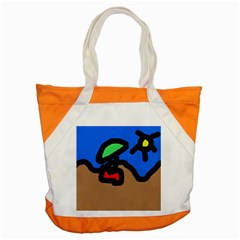 Beach Accent Tote Bag by Valentinaart