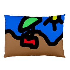 Beach Pillow Case by Valentinaart