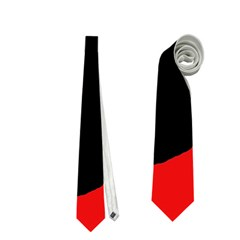Red And Black Abstraction Neckties (two Side)