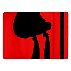 Red And Black Abstraction Samsung Galaxy Tab Pro 12 2  Flip Case by Valentinaart