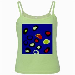 Blue Pattern Abstraction Green Spaghetti Tank by Valentinaart