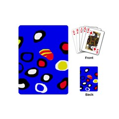 Blue Pattern Abstraction Playing Cards (mini)  by Valentinaart
