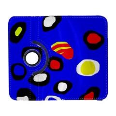 Blue pattern abstraction Samsung Galaxy S  III Flip 360 Case by Valentinaart