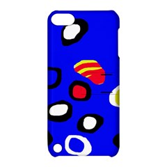 Blue Pattern Abstraction Apple Ipod Touch 5 Hardshell Case With Stand by Valentinaart
