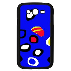 Blue Pattern Abstraction Samsung Galaxy Grand Duos I9082 Case (black) by Valentinaart