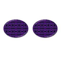 Dots Pattern Purple Cufflinks (oval) by BrightVibesDesign
