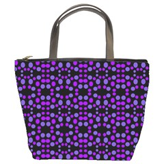 Dots Pattern Purple Bucket Bags by BrightVibesDesign