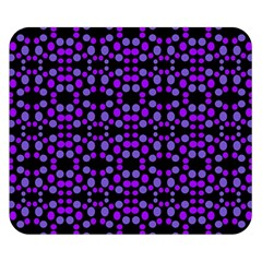 Dots Pattern Purple Double Sided Flano Blanket (Small)