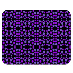 Dots Pattern Purple Double Sided Flano Blanket (medium)  by BrightVibesDesign