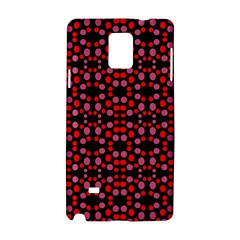 Dots Pattern Red Samsung Galaxy Note 4 Hardshell Case by BrightVibesDesign