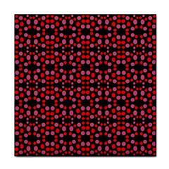Dots Pattern Red Face Towel by BrightVibesDesign