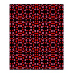 Dots Pattern Red Shower Curtain 60  X 72  (medium)  by BrightVibesDesign